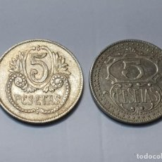 Monedas locales: FICHA MONEDA CASINO 5 PESETAS AÑOS 30 REPUBLICA LOTE 2. Lote 222098437