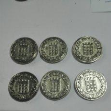 Monedas locales: FICHAS TOKEN CONJUNTO 6 CAJA PROVINCIAL DE GUADALAJARA.PARA MUS. Lote 222233103