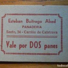 Monedas locales: VALE POR 2 PANES - PANADERIA ESTEBAN BUITRAGO ABAD - CARRIÓN DE CALATRAVA - CIUDAD REAL. Lote 223420661