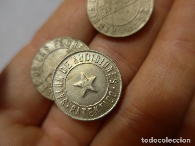 Monedas locales: * Lote 3 antigua moneda o ficha del salon de audiciones de barcelona, rambla de les flors. ZX - Foto 4 - 223846075