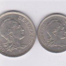 Monedas locales: MONEDAS GUERRA CIVIL - EUZKADI - SERIE DE 1 Y 2 PESETAS 1937 - PG-208-9 - (MBC/EBC). Lote 224031416