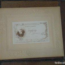 Monedas locales: CURIOSO BILLETE ECHEGARAY BANCO DE ESPAÑA 50 PESETAS. MONTADO EN CARTÓN.. Lote 224317713