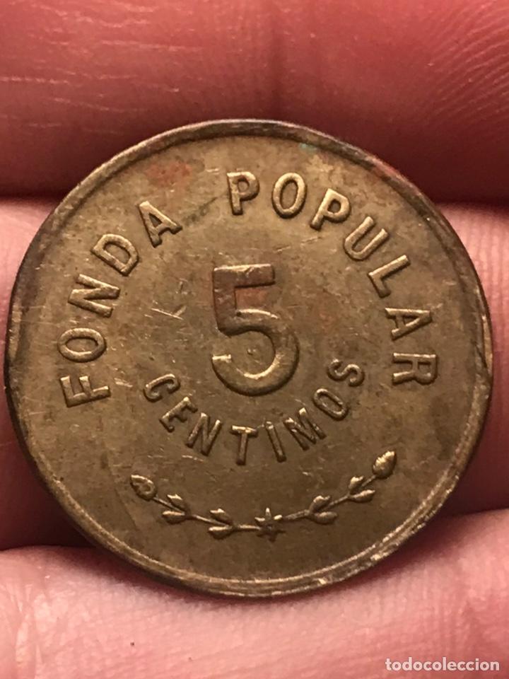 Monedas locales: 5 centimos Fonda Popular Asilo San Jose - Foto 2 - 218906097
