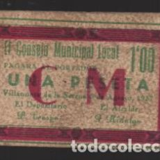 Monedas locales: VILLANUEVA DE LA SERENA-BADAJOZ- 1 PTA, VARIEDAD:- C.M. Y RECUADRO EN ROJO- VER FOTOS. Lote 225057140