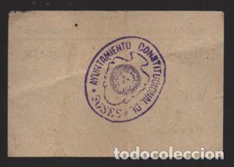 Monedas locales: SOSES- LERIDA- 1 PTA. -MONEDA PER A REFUGIATS- CON Nº Y SELLADO EN REVERSO- VER FOTOS - Foto 2 - 225057495