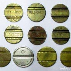 Monedas locales: CONJUNTO DE 17 FICHAS DE TELEFONO ANTIGUAS, ALGUNAS MUY ESCASAS. MONEDAS 3539. Lote 225340015