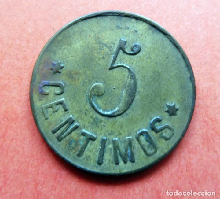Monedas locales: MONEDA - LA EQUITATIVA - PALAMÓS - 5 CENTIMOS - - Foto 2 - 226229460