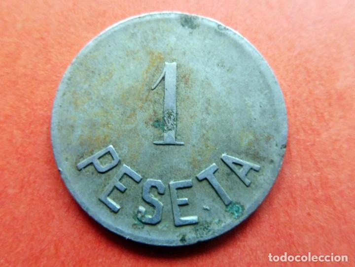 Monedas locales: MONEDA - LA LA ECONOMICA - PALAFRULLENSE - 1 PESETA - Foto 2 - 226229830
