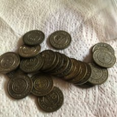 Monedas locales: LOTE DE 23 FICHAS TALLERES SAN CARLOS 10 DISCOS. Lote 226809545
