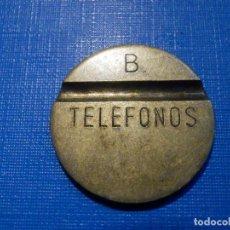 Monedas locales: ANTIGUA FICHA PARA CABINAS TELEFONICA - TELEFONOS - B - 1 RANURA DESCENTRADA POR CARA - RARA. Lote 226922640