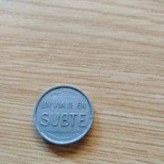 Monnaies locales: FICHA UN VIAJE EN SUBTE. METRO, TRANSPORTES DE BUENOS AIRES.. Lote 227923330
