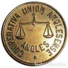 Monedas locales: ESPAÑA. COOPERATIVA UNION ANGLESENSE. 5 PESETAS. Lote 229023300
