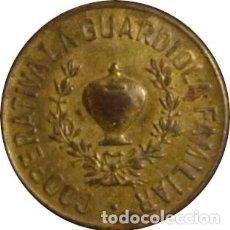 Monedas locales: ESPAÑA. COOPERATIVA FAMILIAR LA GUARDIOLA. 5 CÉNTIMOS. BARCELONA. 1.934. Lote 229901285