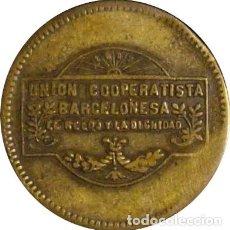 Monedas locales: ESPAÑA. COOPERATIVA EL RELOJ Y LA DIGNIDAD. 10 CÉNTIMOS. BARCELONA. 1.927. Lote 229903650