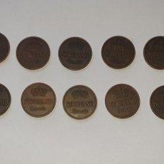 Monedas locales: LOTE DE 10 MONEDAS DE SOBERANO BRANDY - GONZALEZ BYASS - JEREZ. Lote 231978265