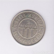 Monedas locales: MONEDAS GUERRA CIVIL - SEGARRA DE GAIÀ - TARRAGONA - 1 PESETA - S/F. - PG-227 (EBC). Lote 233464470