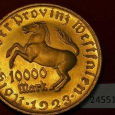 Monedas locales: WESTFALIA, ALEMANIA , 10.000 MARCOS 1923, 10000, TOKEN, JETON , WESTFALEN,. Lote 234144220