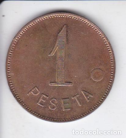 Monedas locales: FICHA DE 1 PESETA DE LA HISPANO SUIZA EN BUEN ESTADO DE CONSERVACION - Foto 2 - 235803330