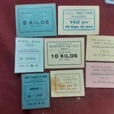 Monedas locales: LOTE DE 8 VALES. CATALUÑA. PAN. PANADERÍAS. Lote 235803965