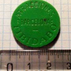 Monedas locales: FICHA PARQUE DE ATRACCIONES DEL TIBIDABO (BARCELONA) - AÑOS 60. Lote 236249535