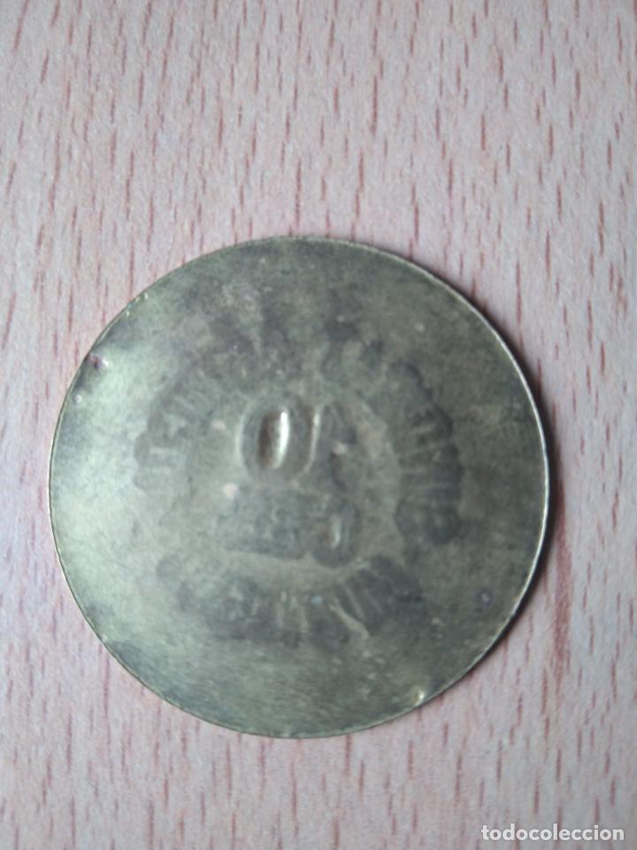 Monedas locales: MONEDA 10 CÉNTIMOS SINDICAT AGRÍCOLA MONTAGUT DE FLUVIÀ GARROTXA GIRONA MUNTAGUT CHAPA GUERRA CIVI - Foto 2 - 237624835