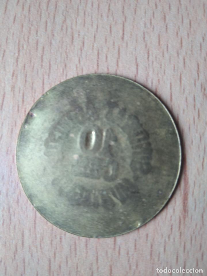 Monedas locales: MONEDA 10 CÉNTIMOS SINDICAT AGRÍCOLA MONTAGUT DE FLUVIÀ GARROTXA GIRONA MUNTAGUT CHAPA GUERRA CIVI - Foto 4 - 237624835
