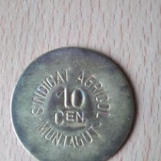 Monedas locales: MONEDA 10 CÉNTIMOS SINDICAT AGRÍCOLA MONTAGUT DE FLUVIÀ GARROTXA GIRONA MUNTAGUT CHAPA GUERRA CIVI. Lote 237624835