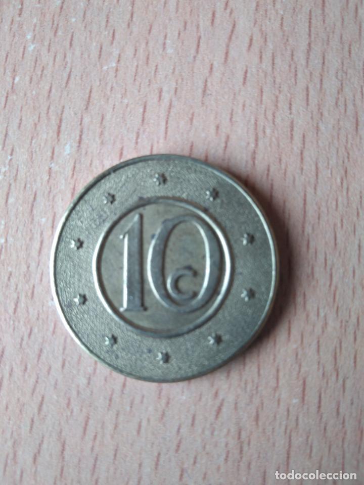 Monedas locales: BELLA CAJA MUTUA POPULAR. BARCELONA. DIFICIL. 10 CÉNTIMOS. HUCHA. ALCANCIA. GUARDIOLA. FICHA. FITXA. - Foto 2 - 237626200