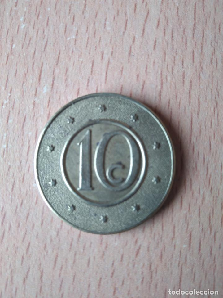 Monedas locales: BELLA CAJA MUTUA POPULAR. BARCELONA. DIFICIL. 10 CÉNTIMOS. HUCHA. ALCANCIA. GUARDIOLA. FICHA. FITXA. - Foto 4 - 237626200