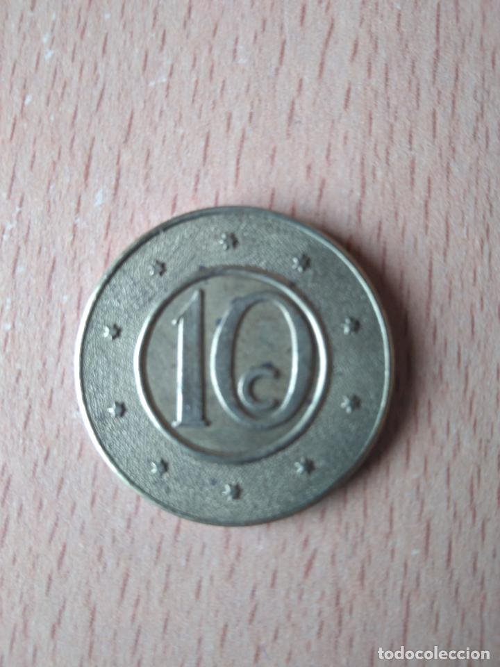 Monedas locales: BELLA CAJA MUTUA POPULAR. BARCELONA. DIFICIL. 10 CÉNTIMOS. HUCHA. ALCANCIA. GUARDIOLA. FICHA. FITXA. - Foto 6 - 237626200