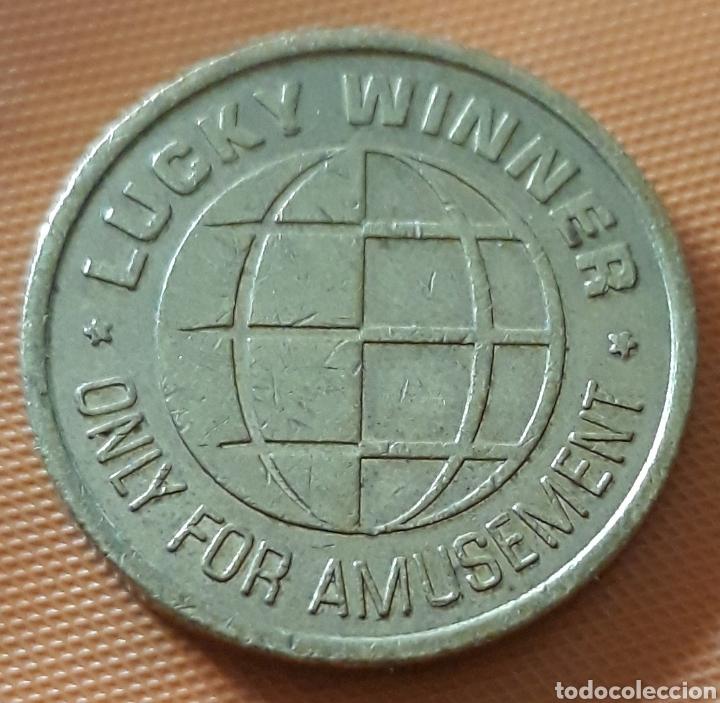 MONEDA TOKEN LUCKY WINNER (Numismática - España Modernas y Contemporáneas - Locales y Fichas Dinerarias y Comerciales)