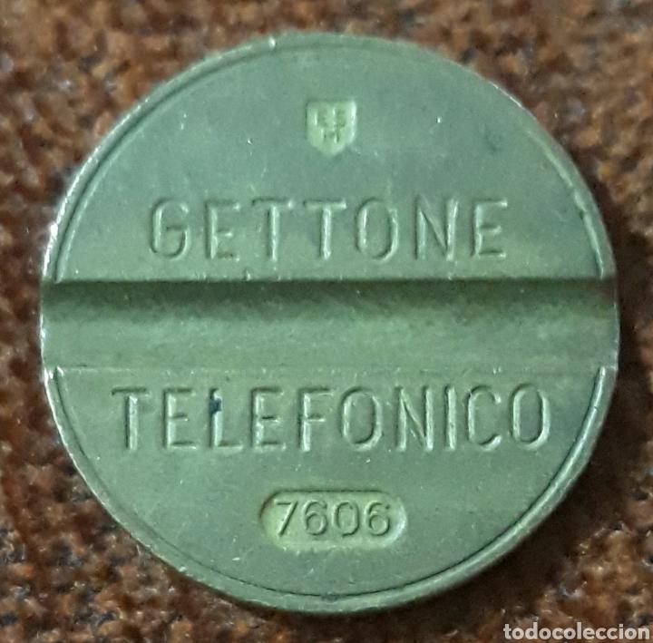MONEDA TOKEN TELEFÓNICO N° 7606 (Numismática - España Modernas y Contemporáneas - Locales y Fichas Dinerarias y Comerciales)