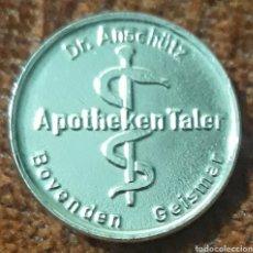 Monedas locales: MONEDA TOKEN DR.ANSCHUIZ TALER BOVENDEN GEISMAR. Lote 239679015