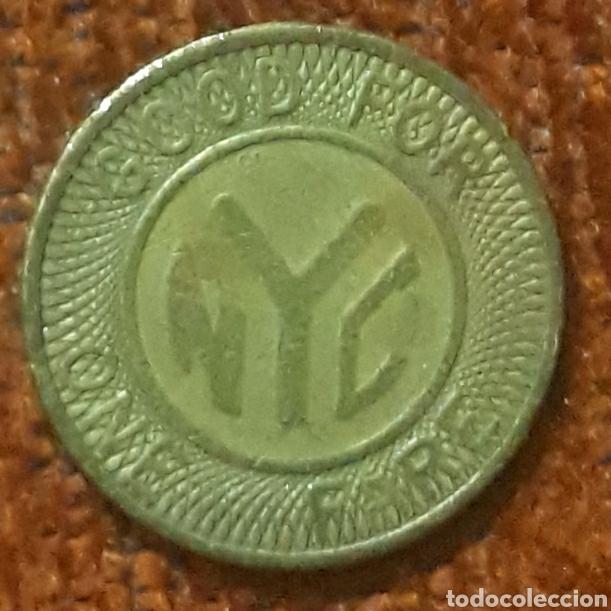 Monedas locales: Moneda de transito New York City 1 fare - Foto 2 - 239938645