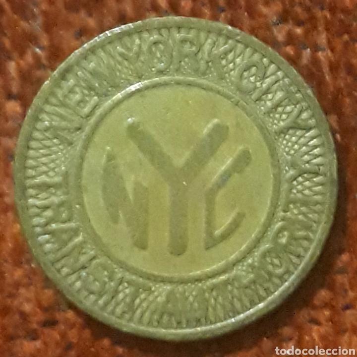 MONEDA DE TRANSITO NEW YORK CITY 1 FARE (Numismática - España Modernas y Contemporáneas - Locales y Fichas Dinerarias y Comerciales)