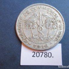 Monedas locales: FICHA ARGELIA FRANCESA, CAMARA COMERCIO 5 CENTIMOS 1916, MONEDA DE NECESIDAD, TOKEN, JETÓN. Lote 240367080