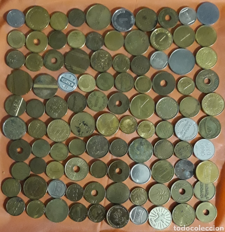 LOTE 100 TOKEN (Numismática - España Modernas y Contemporáneas - Locales y Fichas Dinerarias y Comerciales)