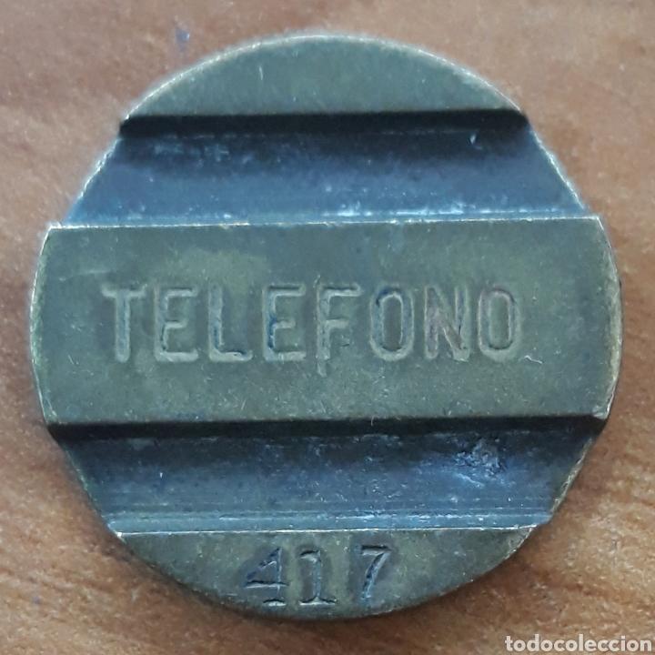 MONEDA TOKEN TELÉFONO N°417 (Numismática - España Modernas y Contemporáneas - Locales y Fichas Dinerarias y Comerciales)