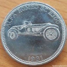 Monedas locales: MONEDA SHELL FICHA TÉCNICA ALFA ROMEO 8C 2300. Lote 242344370