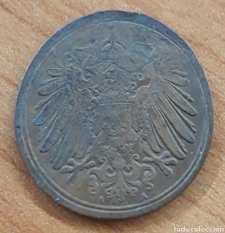 MONEDA OLONGADA ERROR DE CUÑO ALEMANIA 1 PFENNIG 1914 (Numismática - España Modernas y Contemporáneas - Locales y Fichas Dinerarias y Comerciales)