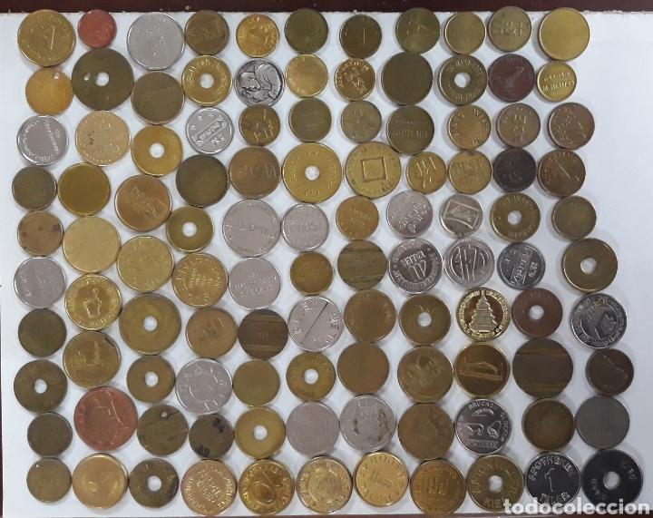 LOTE 100 MONEDAS TOKEN 1A (Numismática - España Modernas y Contemporáneas - Locales y Fichas Dinerarias y Comerciales)