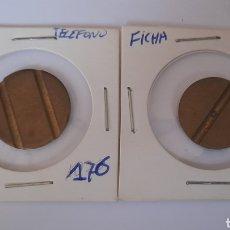 Monedas locales: 2 FICHAS DE TELÉFONO. VER FOTOS.. Lote 242834855