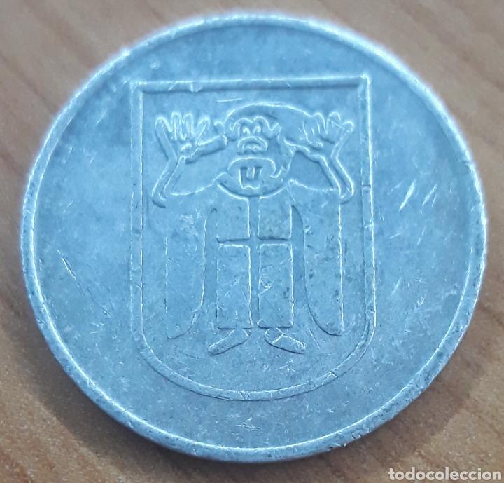 Monedas locales: Moneda token Jarra cerveza burlón - Foto 2 - 243786065