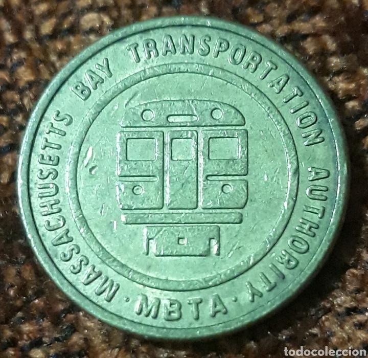 MONEDA TOKEN MASSACHUSETTS BAY TRANSPORTATION AUTORITY (Numismática - España Modernas y Contemporáneas - Locales y Fichas Dinerarias y Comerciales)