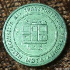 Monedas locales: MONEDA TOKEN MASSACHUSETTS BAY TRANSPORTATION AUTORITY. Lote 244448590