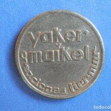 Monedas locales: FICHA PUBLICITARIA TIPO JETÓN YAKER MAIKEL AÑO 1959. CONSERVACIÓN: EBC. Lote 244616915