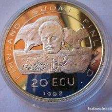 Monedas locales: FINLANDIA . 20 ECU DE PLATA DEL AÑO 1992 . EXTRAORDINARIAMENTE NUEVA. Lote 245106300