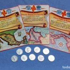 Monedas locales: TOKEN O JETON FICHAS Y MONEDAS DE CONQUISTADORES HERNAN CORTES VASCO NUÑEZ DE BALBOA AÑOS 60. Lote 245245435