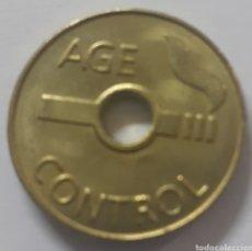 Monedas locales: MONEDA TOKEN AGE CONTROL. Lote 245270050