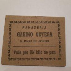 Monedas locales: VALE DE PAN PANADERÍA GABINO ORTEGA EL VILLAR DE ARNEDO (LA RIOJA) GUERRA CIVIL.. Lote 246015620